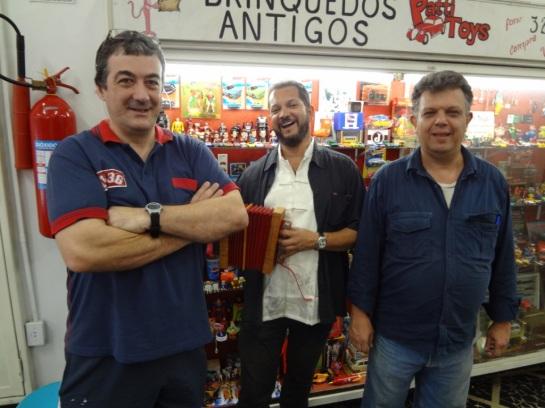 Os amigos Edilson Cargon (Sasquat) e Carlos Roberto (Olhos de águia)