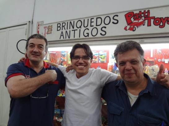 Amigos, colecionadores e parceiros Edilson Cargon e Luis Grama da Grama Toys.