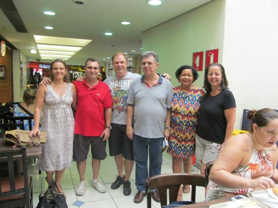 Sabrina, Celestino Silva, Henrique Purgailis, Marcelo Patti, Izilda Patti e Rosana.