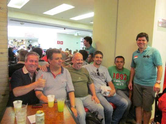 Marcelo Patti e comerciantes amigos.